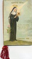 Calendrier RELIGIEUX De 1962 - SAINTE RITA -  Crèche En Page Centrale - Images Religieuses