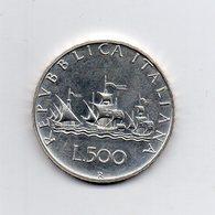 """ITALIA - 1980 - 500 Lire """"Caravelle"""" - Argento 835 - Peso 11 Grammi - (MW2174) - 1946-… : Repubblica"""