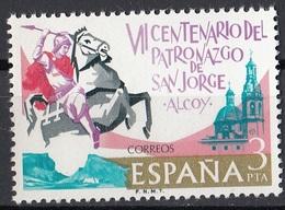 Spagna 1976 Sc. 1940 Apparizione Di San Giorgio Cattedrale Di Alcoy MNH Spain Espana - Cristianesimo