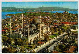 ISTAMBUL    SULEYMANIYE  CAMIININ  HAVADAN  GORUNUSU                 (VIAGGIATA) - Turchia