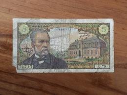 FRANCE 5 Francs Type Pasteur - 1-08-1968 - G / AB - 1962-1997 ''Francs''