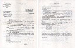 Invitation Et Programme D' Une Réunion De Félibres - Felibre - Mantenènço De Prouvènço - Lou Sendi - NICO  ...  (112754) - Announcements