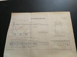 ANNALES DES PONTS Et CHAUSSEES - Plan De Pose Mécanique Des Voies Ferrées  Imp. L. Courtier 1898 (CLA9) - Machines