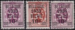 Belgie    .    OBP   .       375/375A/376  ( 2 Scans )     .     **   .      Postfris      .  / .   Neuf SANS Charniere - Bélgica