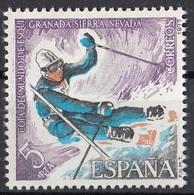 Spagna 1977 Sc. 2036 Sci Slalom World Ski Championships. Granada. Sierra Nevada MNH Spain Espana - Sci