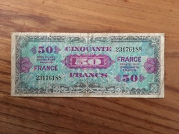 FRANCE 50 Francs Libération - 1944 - VG / B - Zonder Classificatie