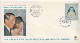 Netherlands Antilles Stamp On FDC - Parrots