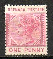 GRENADE - (Colonie Britannique) - 1883 - N° 14 - 1 P. Rose - (Victoria) - Central America