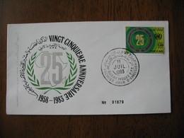 FDC Maroc 1983   25 è Anniversaire  1958-1983    à Voir - Maroc (1956-...)