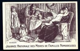 CP 3- CPA ANCIENNE FRANCE- MILITARIA- JOURNÉE NATIONALE DES MÈRES DE FAMILLES NOMBREUSES- SIGNÉE H. DE NOLHAC - Patriotiques