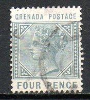 GRENADE - (Colonie Britannique) - 1883 - N° 16 - 4 P. Ardoise - (Victoria) - Central America