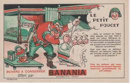 Buvard Le Petit Poucet Offert Par BANANIA - Alimentaire