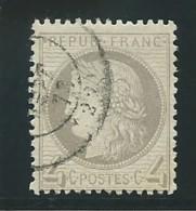 FRANCE: Obl., N° YT 52, Gris, TB - 1871-1875 Ceres
