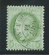 FRANCE: Obl., N° YT 53, Vert-jaune Sur Azuré, Beau Cad, TB - 1871-1875 Ceres
