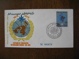 Enveloppe  FDC Maroc 1973  Centenaire De L'Organisation Météorologique Mondiale  N° 3676  à Voir - Maroc (1956-...)