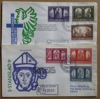 Vaticano 1966 - Millenario Cattolico Della Polonia 2 FDC Venetia Racc. Viaggiate - Francobolli