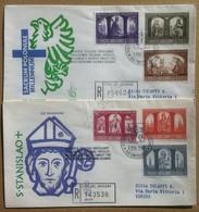FDC Venetia Vaticano 1966 - Millenario Cattolico Della Polonia 2 Racc. Viaggiate - Francobolli