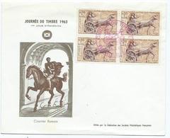 Enveloppe 1er Jour France Journée Du Timbre 1963 - 1961-....