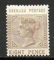 GRENADE - (Colonie Britannique) - 1883 - N° 18 - 8 P. Bistre-olive - (Victoria) - Centraal-Amerika