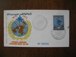 Enveloppe FDC Maroc 1973 Centenaire De L'Organisation Météorologique Mondiale N° 3384  à Voir - Maroc (1956-...)