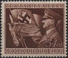 ALLEMAGNE DEUTSCHES III REICH 785 ** MNH Anniversaire Parti Nazi Hitler National Socialisme Croix Gammée - Germany