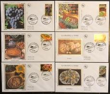 France FDC - Premier Jour - Lot De 6 FDC - Thématique Nourriture Gastronomie - 2004 - FDC