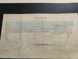 ANNALES DES PONTS Et CHAUSSEES (Allemagne) - Plan Du Port De Bremerhaven Graveur Anonyme 1903 (CLA11) - Cartes Marines
