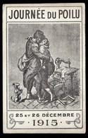 CP 3- CPA ANCIENNE FRANCE- MILITARIA- JOURNÉE DU POILU 1915- BELLE SCÈNE- MACHINE A COUDRE- 2 SCANS - Patriottiche