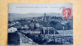 Cpa Saint Martin En Haut - France