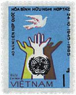 Ref. 33139 * NEW *  - VIET NAM . 1986. 40th ANNIVERSARY OF THE U.N.. 40 ANIVERSARIO DE LA ONU - Vietnam