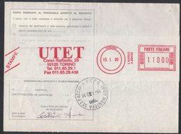 AP42   Italia,Italy Red Meter / Freistempel / Ema 2000 UTET - Torino - Affrancature Meccaniche Rosse (EMA)