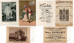 3  Chromos Publicitaires - Au Gagne-Petit (Bouruet-Aubertot - Pianos Léon Huguet - Patisserie Du Lycée Buffon  (112763) - Publicités