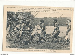 DALOMON NATIVES OF CHOISEUL BRITISH SOLOMON ISLANDS ON THE WAR PATH CPA BON ETAT - Salomon