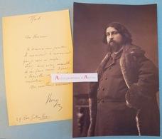 L.A.S + Photo Daniel VIERGE - Peintre & Dessinateur Né à Madrid - Manuscrit - Lettre Autographe - Boulogne Sur Seine - Autographes