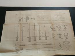 ANNALES DES PONTS Et CHAUSSEES - Plan Des Tramways Aux Etats-Unis Imp L.Courtier 1896 (CLA13) - Máquinas