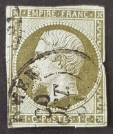 1853-1861, Emperor Napoléon Lll, 1c, Empire Française, France - 1863-1870 Napoleon III With Laurels