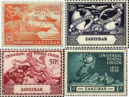 Ref. 60114 * NEW *  - ZANZIBAR . 1949. 75th ANNIVERSARY OF UPU. 75 ANIVERSARIO DE LA UPU - Zanzibar (...-1963)