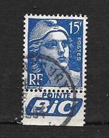 """FRANCE. 1951   N°886A   """" Type Marianne De Gandon Avec Bande PUB """"    Oblitéré - Oblitérés"""
