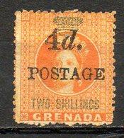 GRENADE - (Colonie Britannique) - 1888-91 - N° 25 - 4  D. S.2 S. Orange Et Vert - (Victoria) - Central America