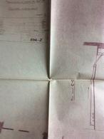 2 Plans D' Architecte : Manutention De Casiers De Bouteilles, Aménagement Du Bâtiment. (79x69 Cm, Petite Déchirure Sur P - Architecture