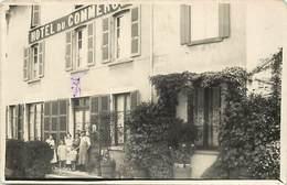 Themes Div-ref BB411-carte Photo -commerces -hotel -hotel Du Commerce -dans Texte Je Suis Monté A Faverges -haute Savoie - Hotels & Restaurants