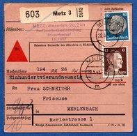 Colis Postal /  Départ Metz / 28-5-43 - Germany