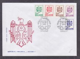 Moldova 1992 Coat Of Arms FDC - Moldavia