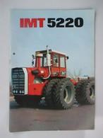 IMT 5220 Tractor Brochure,Prospect,Traktor Prospekte,Industry Of Agricultural Machines,Tractors,Belgrade,Yugoslavia - Tractors