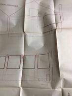 Plan D' Architecte : Coupe Transversale & Longitudinale. Charenton, 98x74 Cm (années 40/50) - Architecture