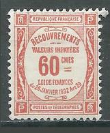 France Timbres-taxe YT N°48 Recouvrements Neuf/charnière * - Portomarken
