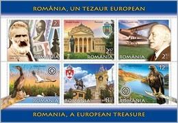 ROMANIA, 2019, European Treasure, Tourism, National Parks, Birds, Block Of 6, MNH (**); LPMP 2226a - 1948-.... Républiques
