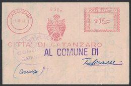 AP47   Italia,Italy Red Meter / Freistempel / Ema 1960 Città Di Catanzaro - Affrancature Meccaniche Rosse (EMA)