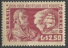 LSJP BRAZIL OPENING OF PORTS D. JOÃO VI BOAT 1958 - Brazil