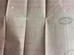 Plan D' Architecte : Balustrade & Escaliers Sur Cuves  1947 (71x34 Cm) - Architecture